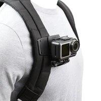 rotate backpack clip clamp mount for gopro hero 987654 xiaomi yi 4k lite sjcam sj4000 eken h9h9r sports camera accessories