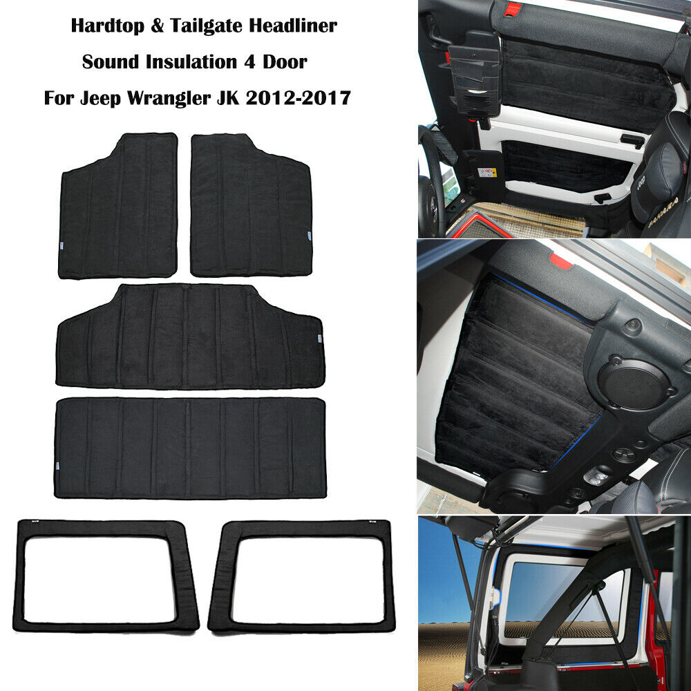 Hardtop & bagageira som deadener headliner isolamento para jeep jk wrangler 4dr