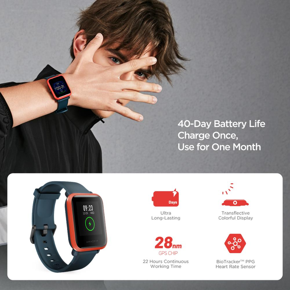 Global Version Amazfit Bip S GPS Smartwatch 5ATM Waterproof Heart Rate Bluetooth Fitness Smart Watch