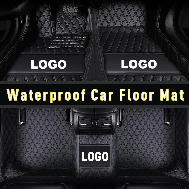 Cardrôle de tapis de sol de voiture en cuir   Pour Mazda 2 3 Axela 5 6 Atenza 8 4
