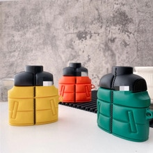 Cute 3D Down Jacket Silicone Earphone Case for Apple Airpods 1/ 2 Pro 3 Cover Earphone Covers  Fashi