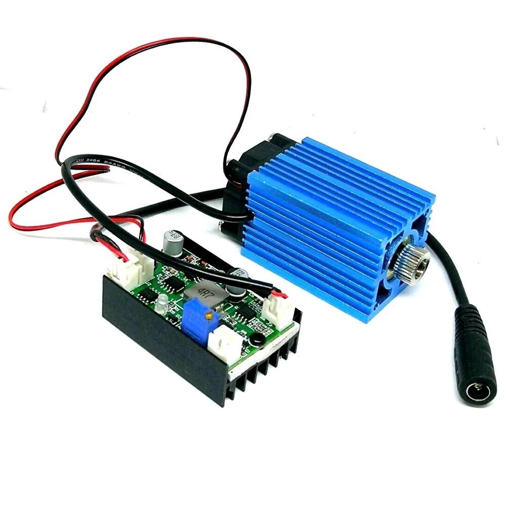 3350 4000 мВт высокая мощность 445 нм 450 нм 4 Вт синий лазер диод модуль фокусируемый точка головка w TTL охлаждение вентилятор +% 26 +питание адаптер локатор 12 В