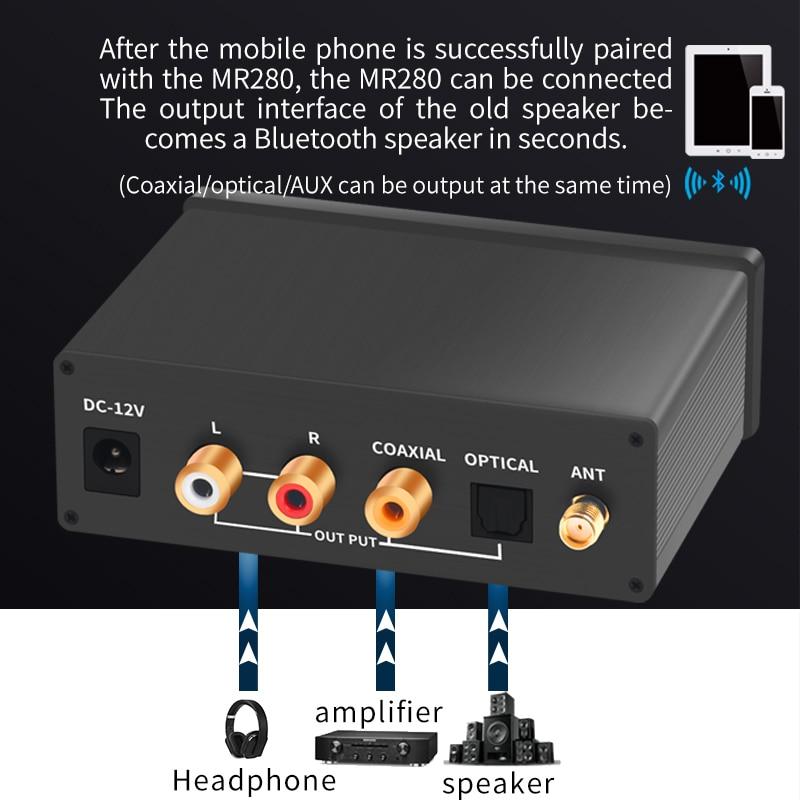 جهاز استقبال الصوت عالي الدقة DAC مزود بتقنية البلوتوث 5.0 LDAC aptX عالي الدقة بدون فقدان CSR8675 ES9018 JRC4580DD جهاز فك الترميز اللاسلكي المحوري البصري