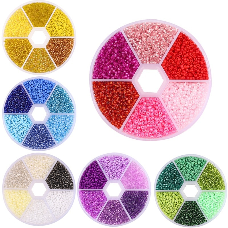 720pcs lot 2mm austria opaque round hole glass bead solid color czech glass seed spacer diy beads for kids jewelry making decor 2mm 3900Pcs/Box Crystal Czech Glass Loose Beads Making For Jewelry charm Seed Rondelle Spacer Beads Needlework DIY Necklace