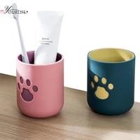 OYOURLIFE     tasse de brosse a dents de dessin anime  tasse de voyage Portable ecologique  maison enfants Couples  tasse de brosse a dents  accessoires de salle de bains