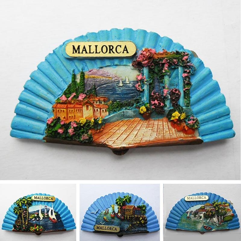Fridge magnet spain Tourism souvenir European Mallorca Refrigerator magnetic Stickers for home decoration Travel Gifts