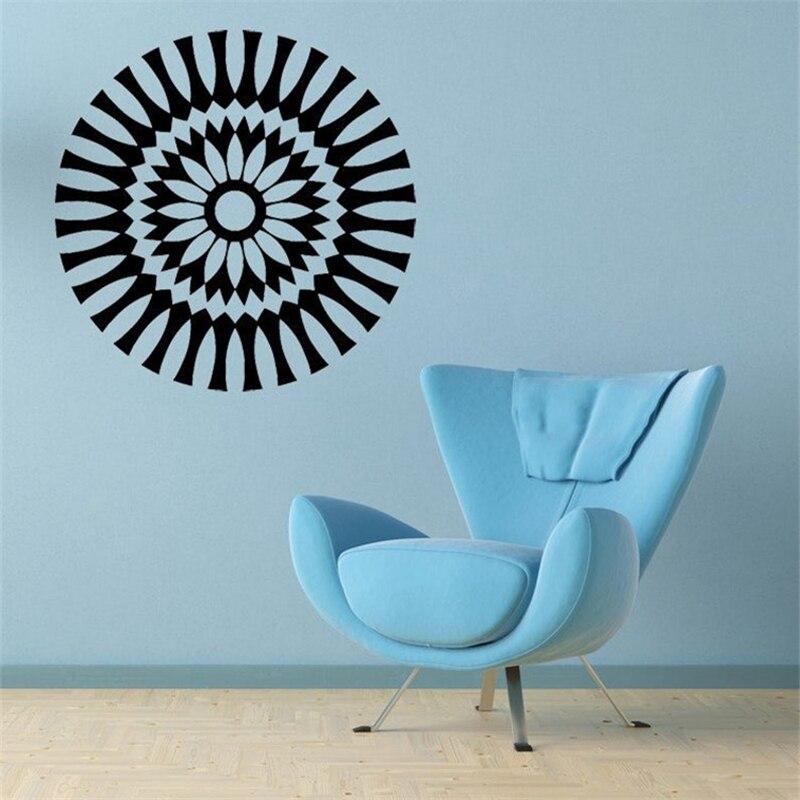 Medallón Retro, calcomanía, medallón de techo, Margarita, flor Floral 1960s, caleidoscopio de vinilo, arte de pared, decoración superior de Mesa para el hogar HQ328