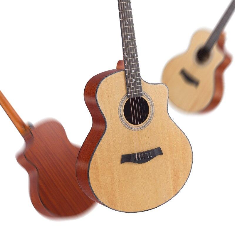 41 Inch Guitar Brown Body Acoustic Mahogany Tenor Stylophone Musical Guitar Wood Cheap Guitarra Acustica Playing Tools EH50G enlarge