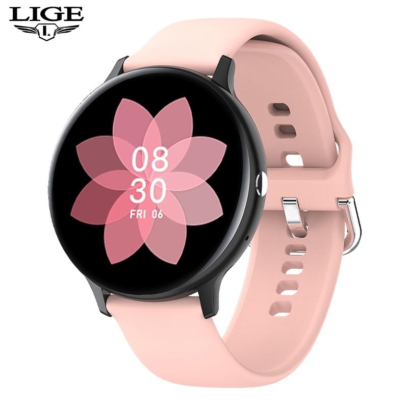 LIGE New P8 Color Screen Smart Watch Women men Full Touch Fitness Tracker Blood Pressure Smart Clock