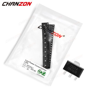 20Pcs HT7333-1 SOT-89 Low Consumption LDO Transistor Bipolar Junction Triode Tube Fets SMD 250mA 30V HT7333 Integrated Circuits