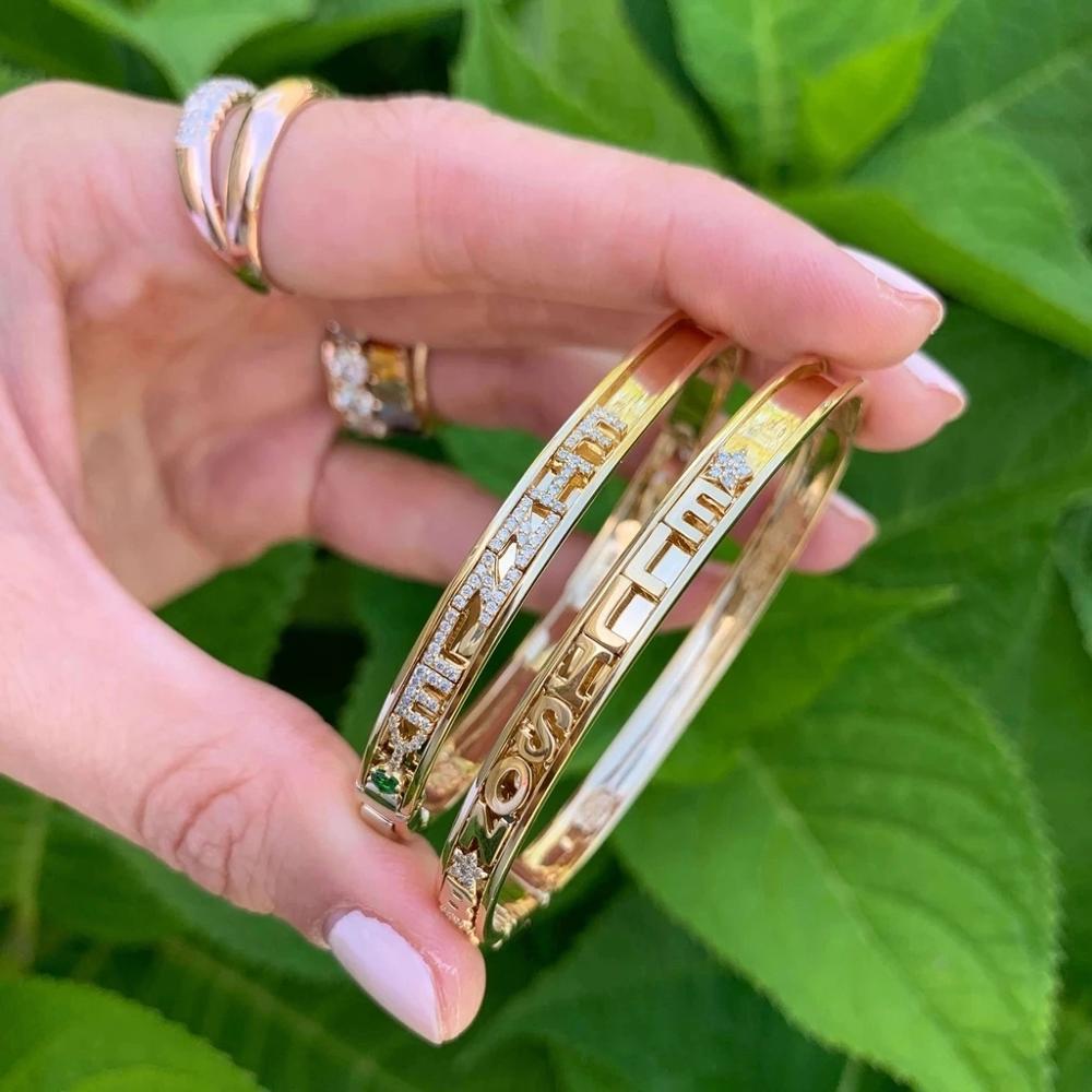 3UMeter 2020 جديد لتقوم بها بنفسك رسائل سوار المرأة مخصص اسم الإسورة سحر سوار مصمم السحر للمجوهرات الشريحة سوار ذاتي الصنع