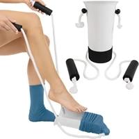 Cordon de serrage aide personnes agees femmes enceintes chaussettes portant la Machine chaussette Assistant sans courbure