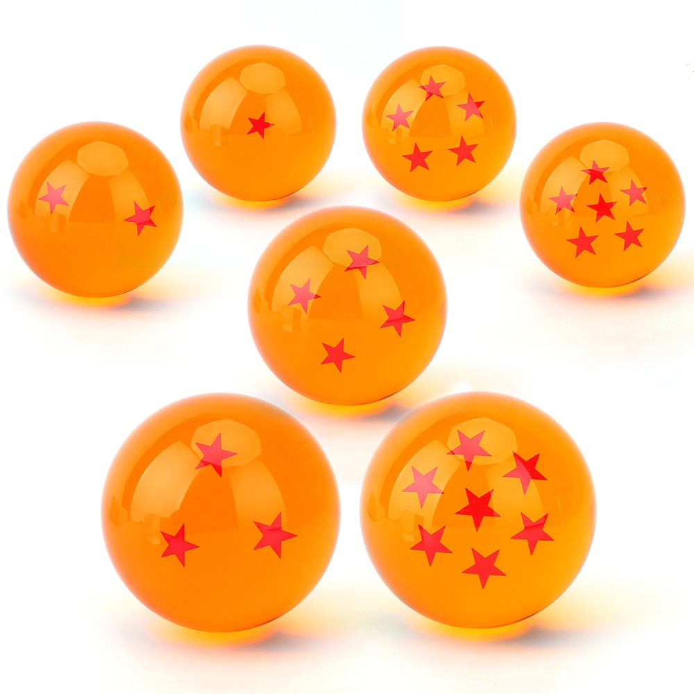 5.7cm No Box Yellow 7 Stars Crystal Resin Balls Dragonball Ball Dragon ball Z DBZ PVC Action Figure Anime Collection Model Toys
