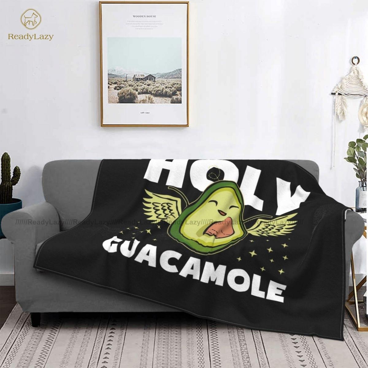 الأفوكادو بطانية الصوف كرسي بطانية لينة موضة مضحك المفرش