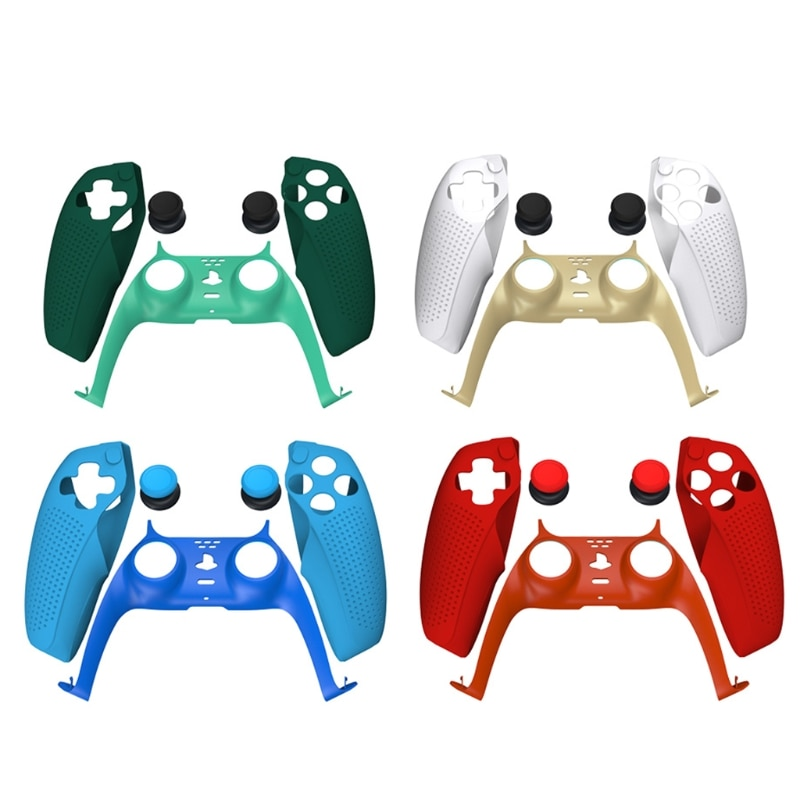 Controller Skin Compatible with PS5 ,Grip Decorative Strip Custom DIY Faceplate Replacement Shell Decoration Accessories