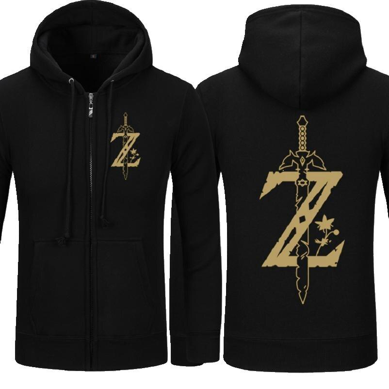 High-Q Unisex La Leyenda de cárdigan de Zelda con capucha Sudadera con capucha sudaderas chaqueta