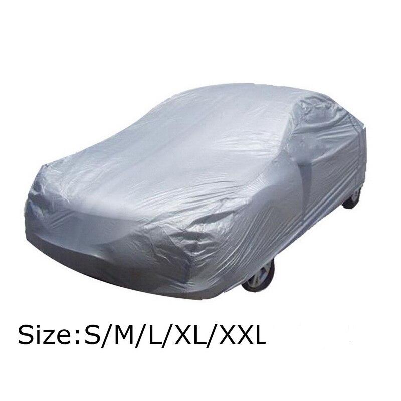 Универсальные чехлы для автомобиля, серебристые автомобильные чехлы для защиты от снега, пыли, размер S/L/XL/XXL
