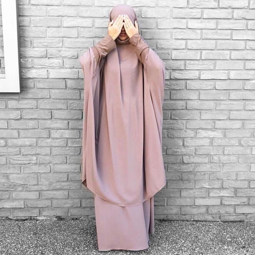 Ramadan Eid Jilbab Muslim Abaya Dubai Prayer Dress Abayas for Women Hijab Long Khimar Robe Islam Clothing Niqab Djellaba Burka