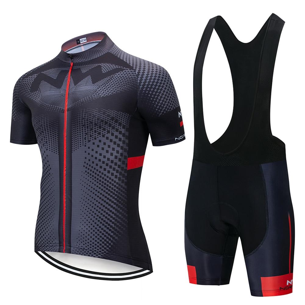 Hombres Nuevos de NW ciclismo bicicleta jersey bib short Equipo Conjunto de traje de manga corta Camiseta de deporte de verano transpirable de la bicicleta mtb de jersey