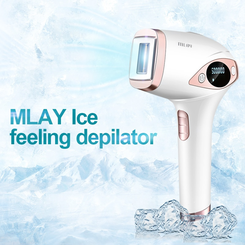 Mlay T4 Ice feeling Painless Laser Hair Removal Home Machine Lens Can Use Pubic Facial Body Ipl Epilator Depilador for Man Woman enlarge