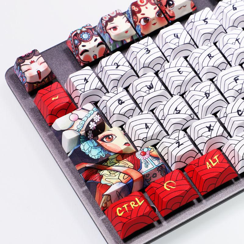 108-مفتاح بكين بكين أوبرا Keycap التسامي PBT شخصية لتقوم بها بنفسك مخصصة لوحة المفاتيح الميكانيكية Keycap الكرز الشخصي الارتفاع