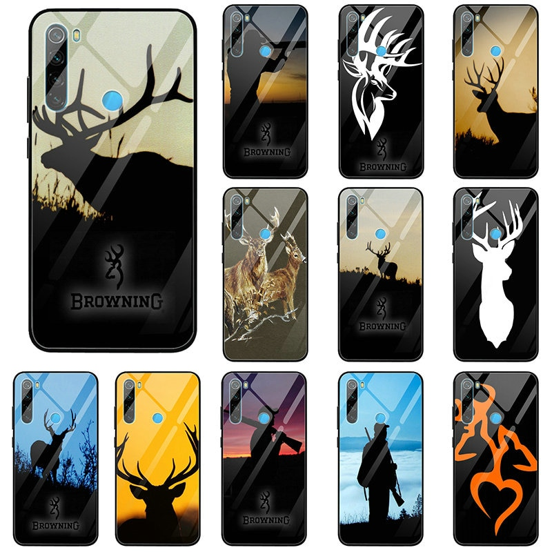 Browning cabeza de ciervo de caza para Xiaomi Mi A1 A2 Redmi Nota 4 4X 5 6 7 8 9 SE Lite Pro fundas de teléfono de cristal templado cubierta