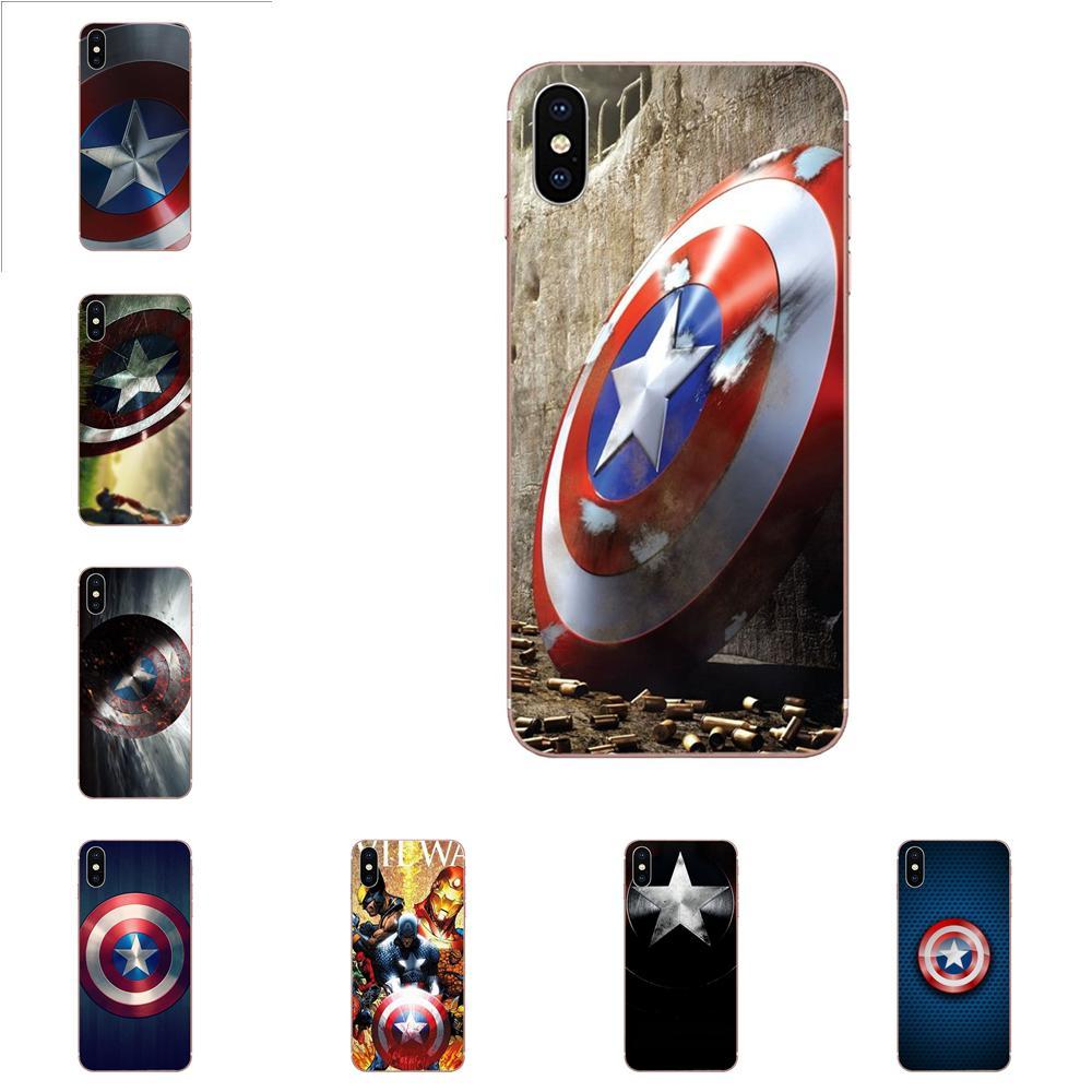 Venta caliente de moda Escudo del Capitán América para Huawei Honor 4C 5A 5C 5X 6 6A 6X 7 7A 7C 7X 8 8C 8 9 10 10i 20 20i Lite Pro