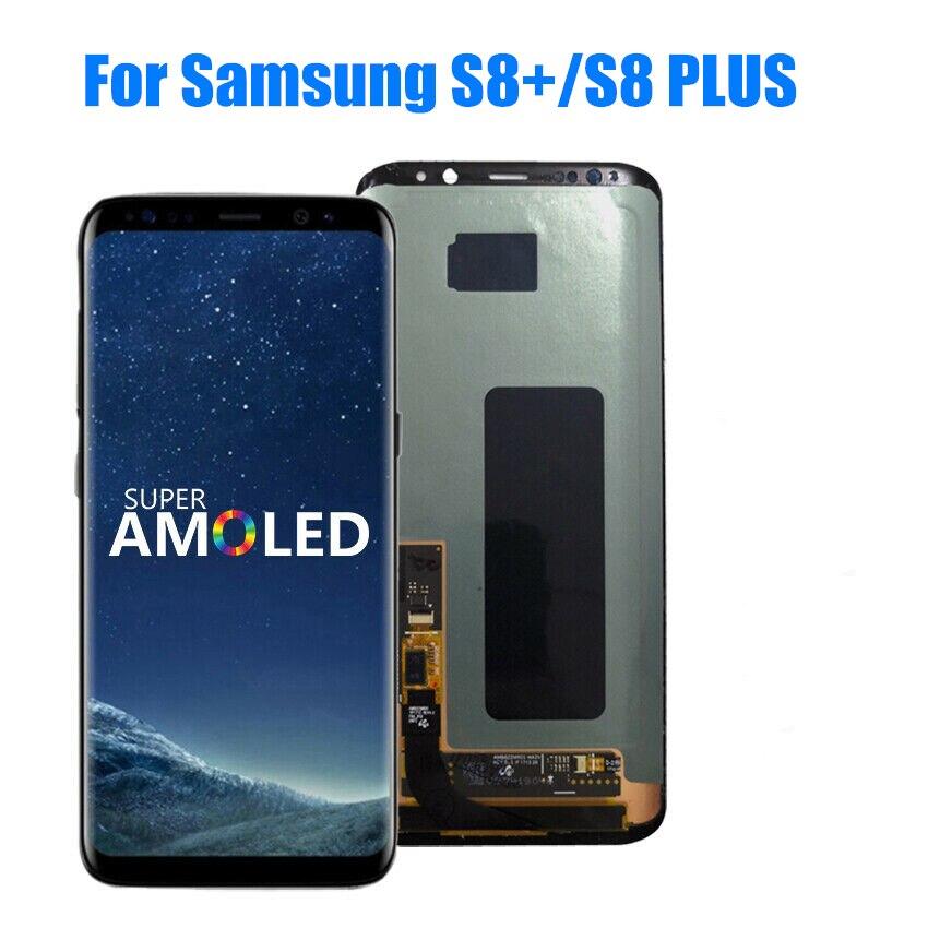 الأصلي سوبر AMOLED S8 LCD لسامسونج غالاكسي S8 G950 G950F عرض S8 زائد G955 G955F شاشة تعمل باللمس محول الأرقام dot