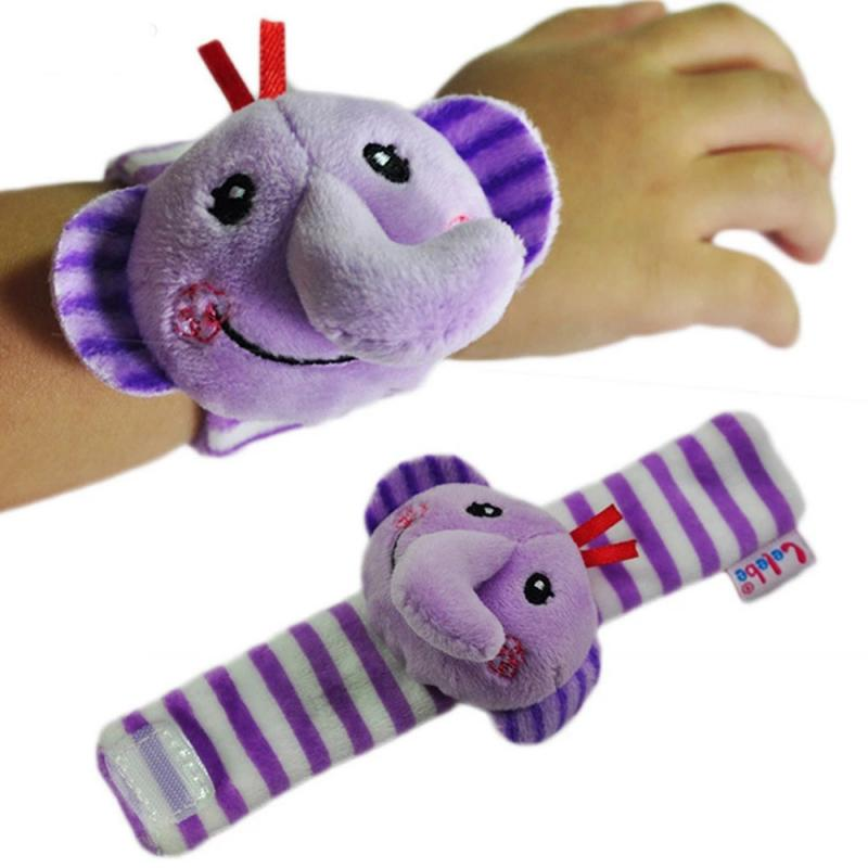 Infant Baby Kids Rattle Toys Wrist Rattle Cute Plush Animal Hand Bell Toys Built-in Bells Toddle Gif