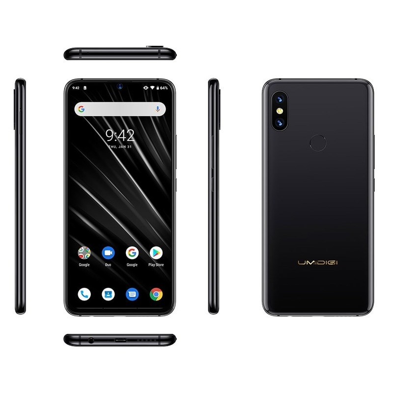 Original New UMIDIGI S3 PRO Android 9.0 6GB RAM 128GB ROM Mobile Phone Helio P70 6.3