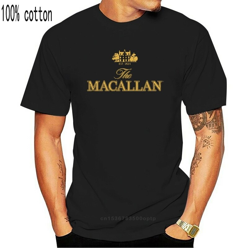 Camiseta negra de manga corta, 4562D The macalan Est 1824, The Malt...