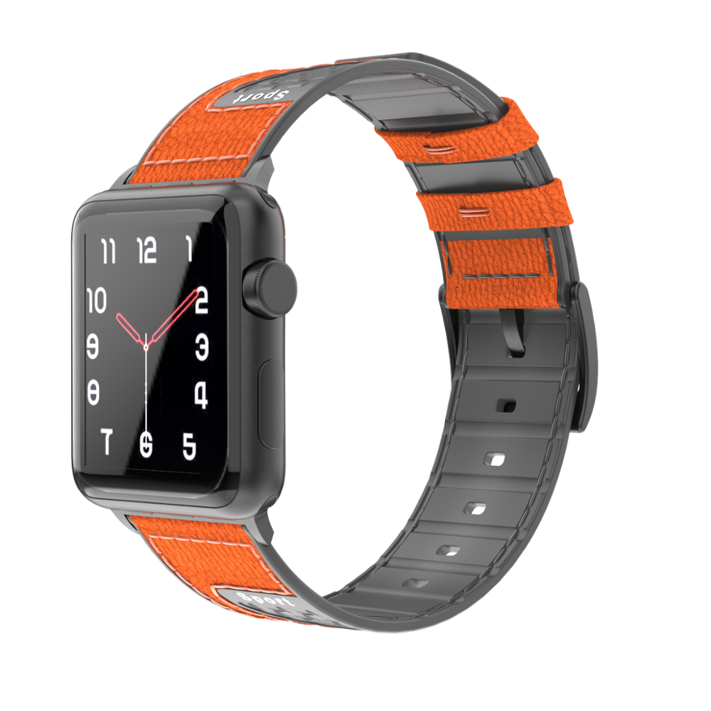 Leather Silicone + Carbon Sport Strap for Apple Watch Band Loop Sport Apple Watch 44 40 Bracelet Watchbands for iWatch 5 4 3 2 1