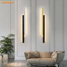 Aluminum LED Wall Lights For Bedside Stairway Foyer Kitchen Gallery Office Living Room Restaurant Indoor Simple Home Fixtures