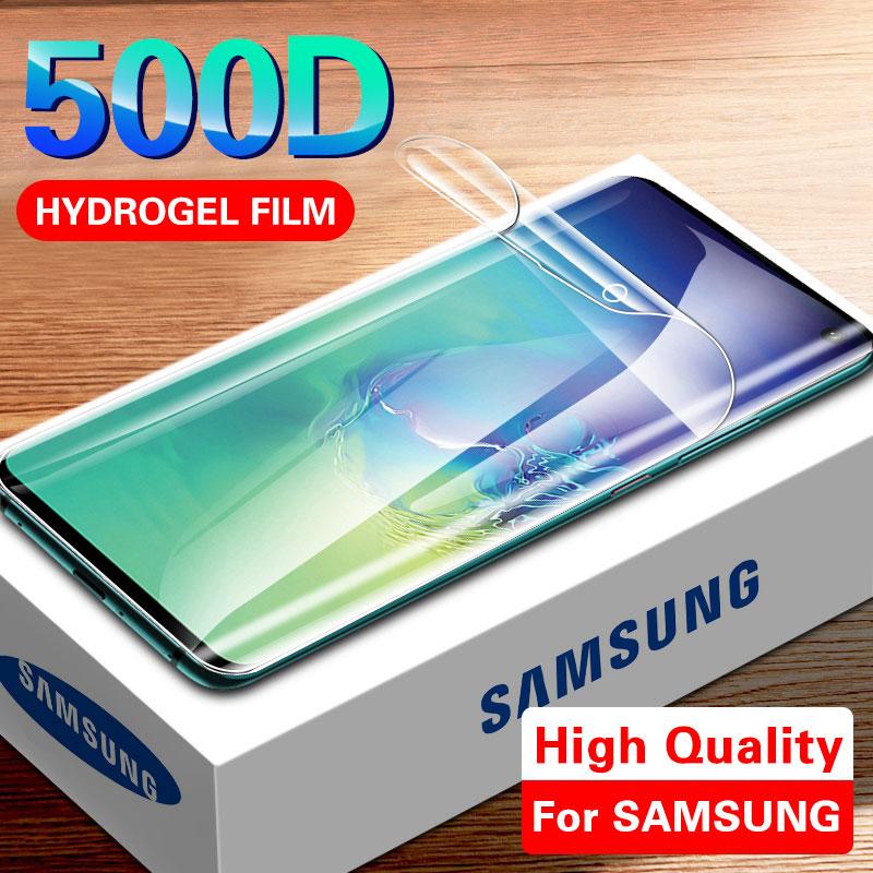 500D Screen Protector Hydrogel Film Für Samsung S10 S9 S8 Plus Hinweis 8 9 S10e Schutz Film Für A50 A10 a30 A70 Film Nicht Glas