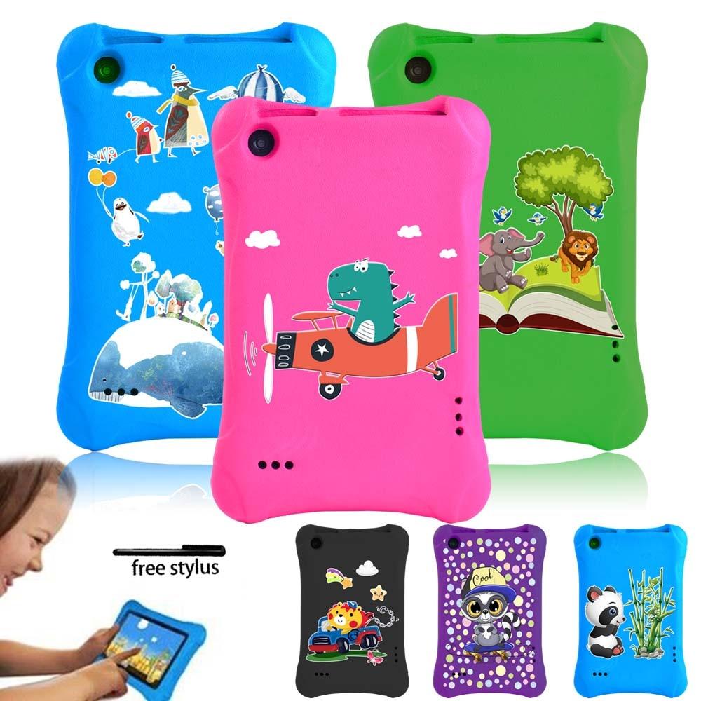 Tablet Case for Amazon Fire 7(5/7/9th Gen )-Kids Safe Shockproof Tablet Case 7 Inch EVA Foam Multicolor Cartoon Pattern Series