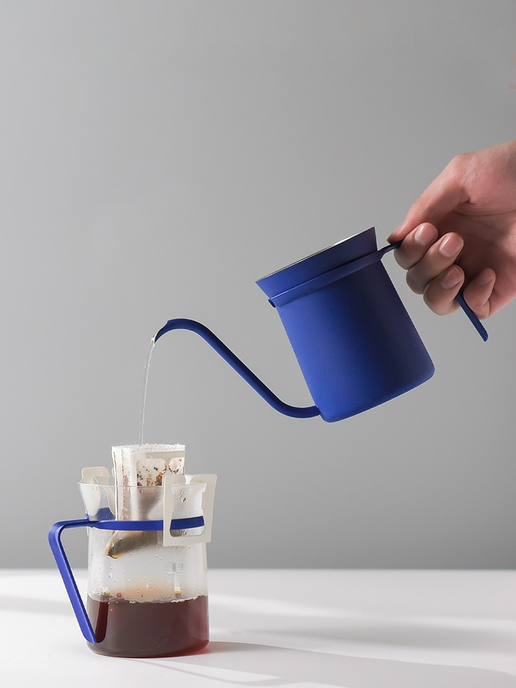 Stainless Steel Hanging Ear Coffee Hand Punch Pot Thin Mouth Goose-neck Coffee-ware With Comfortable Handle  Coffee Appliance