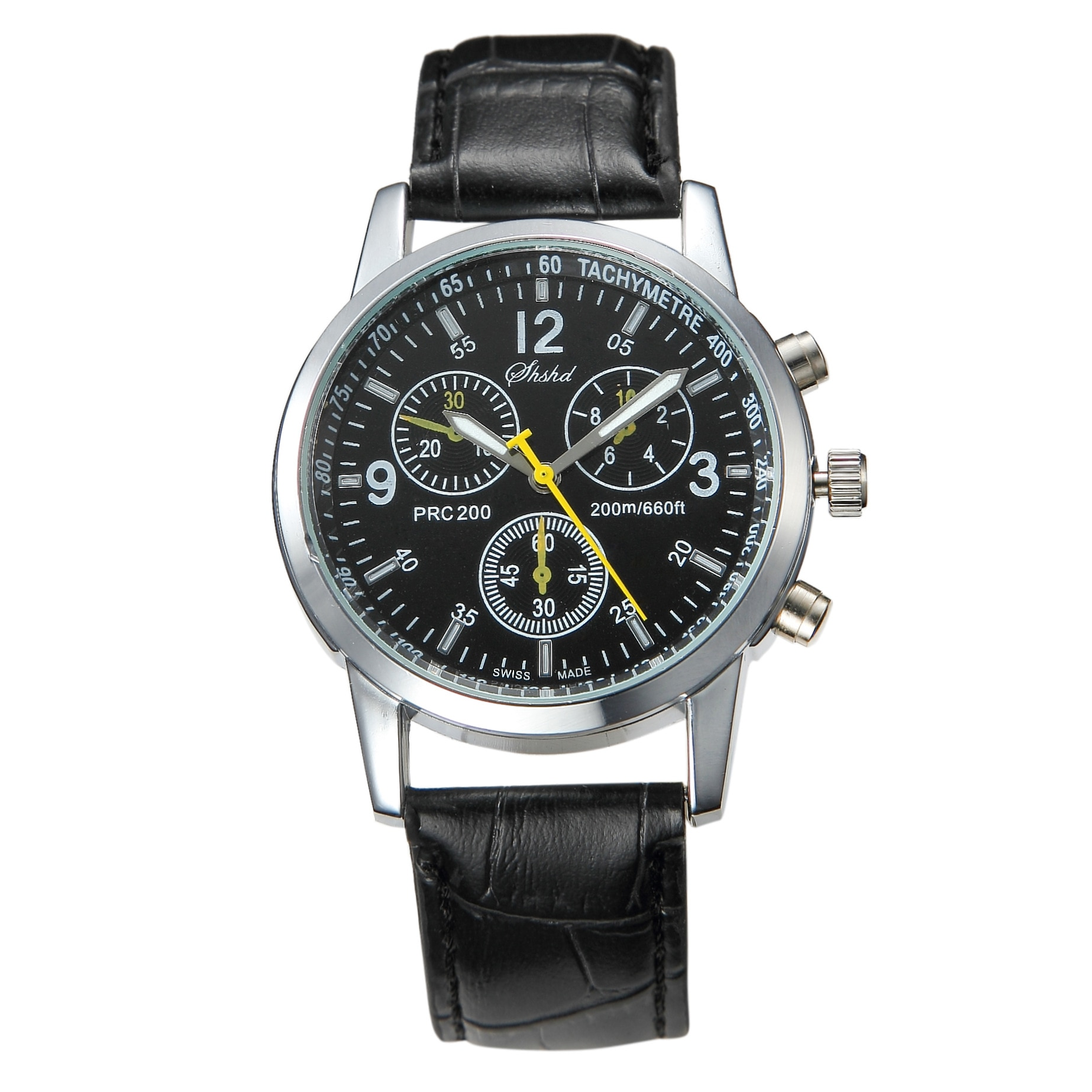 Fashionable casual men style and leisurely strap watch three eye six stitches leisure fashion activi