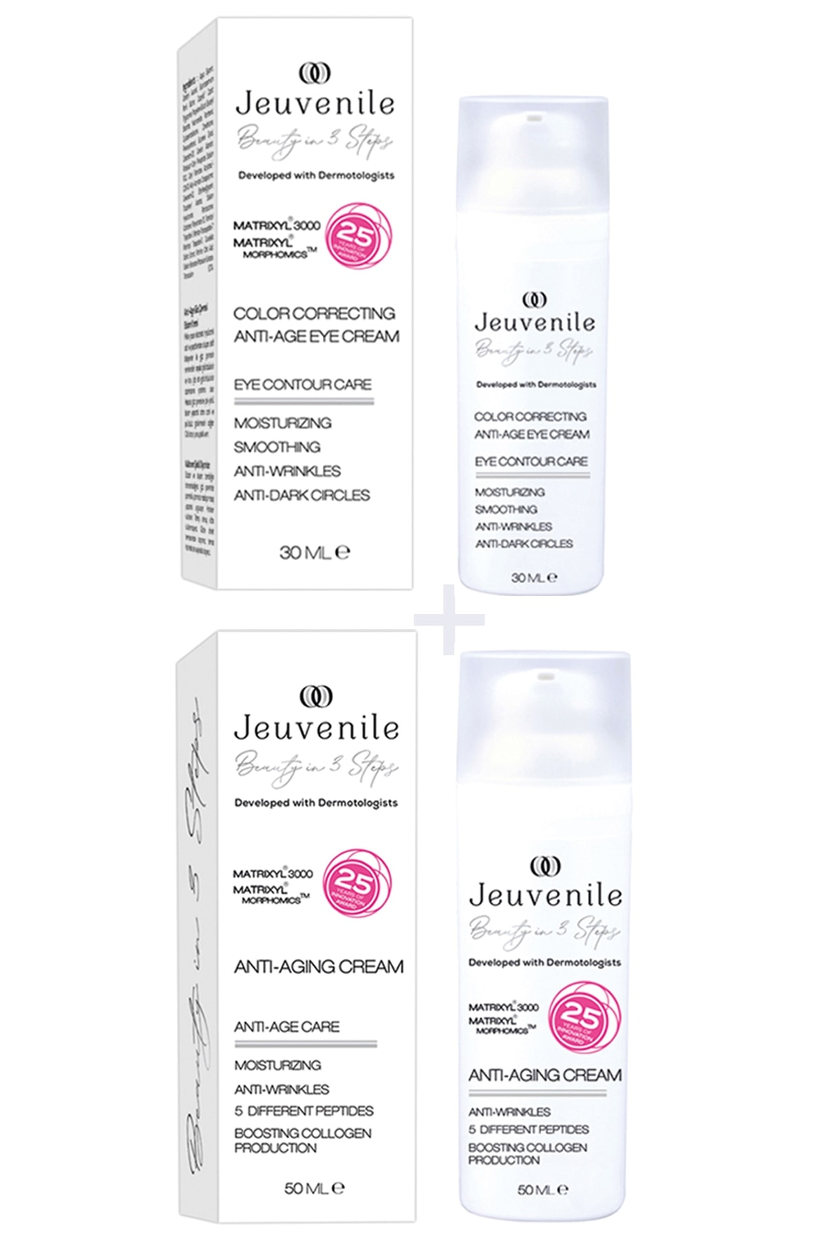 Jeuvenile Anti-age Skin Care Set (European 25 Year Award Winning Innovation aging and Anti wrinkle skin care product