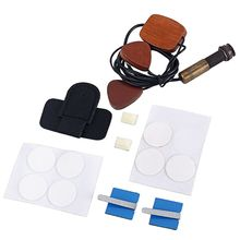 1 juego GMB633 Universal guitarra Pickup Cherry madera contacto piezoeléctrico Pickup con clavija de hebilla para guitarras ukelele Musical Instrum