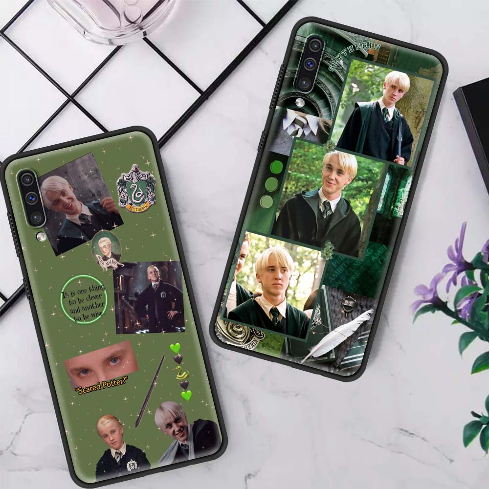 Draco Malfoy Fall Für Samsung Galaxy A50 A70 A40 A30 20s A10 A90 A80 Capas Schwarz Silikon Telefon Coque borsa
