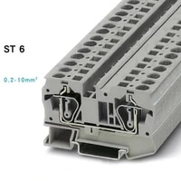 10pcs type st6 20 8 awg fast wiring contductor connector united din rail modular push in screwless terminal block st 6