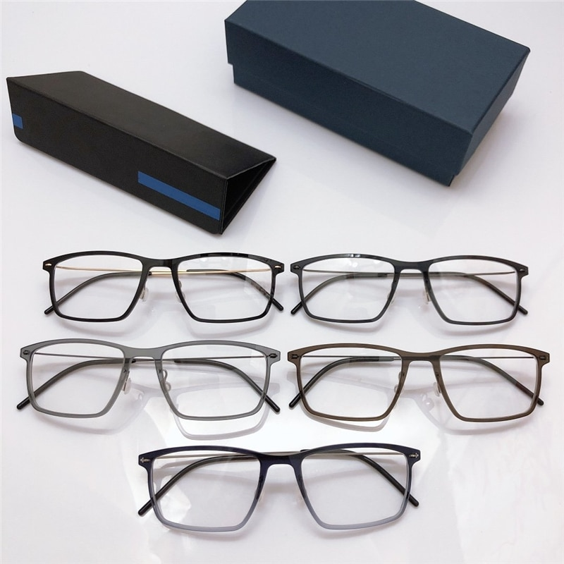 إطار نظارة كمبيوتر على شكل عين للرجال والنساء ، إطار مربع ، خفيف للغاية ، بدون براغي ، أزرق فاتح ، 6544