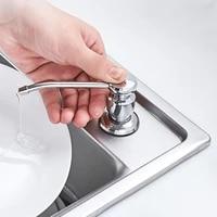 Distributeur de savon a main pour salle de bain et cuisine  contenance de 300 ml  bouteille en plastique avec pompe  lotion ou desinfectant liquide integre  pratique pour lorganisation