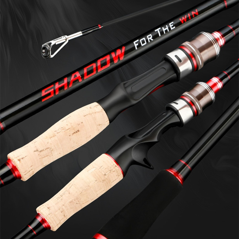 High Quality 2021 New 1.8m 2.1m 2.4m Spinning Fishing Rod 2 Tips ML/M Power 3 Sec Carbon Rod Spinning Casting Rod Fishing Tackle enlarge