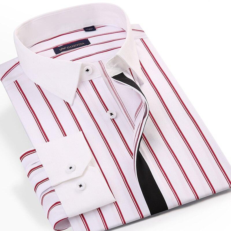 Męski czarny blok ukryte guziki plisy koszule w paski bez kieszeni konstrukcja z długim rękawem standardowa koszula z włókna bambusowego