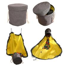 New Portable Kids Toy Storage Bag and Play Mat Toys Organizer Box Drawstring Bag Fashion Practical waterproof Storage Baskets