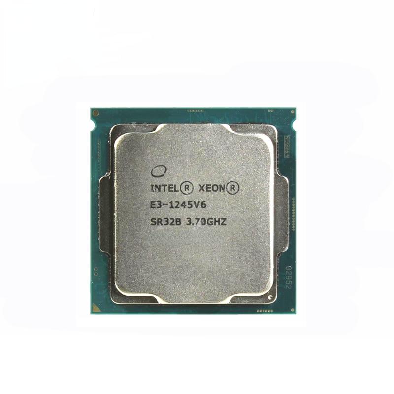 معالج إنتل زيون E3-1245 v6 e3 1245v6 8M كاش ، 3.70 GHz TDP 73 واط رباعية النواة LGA 1151 CPU
