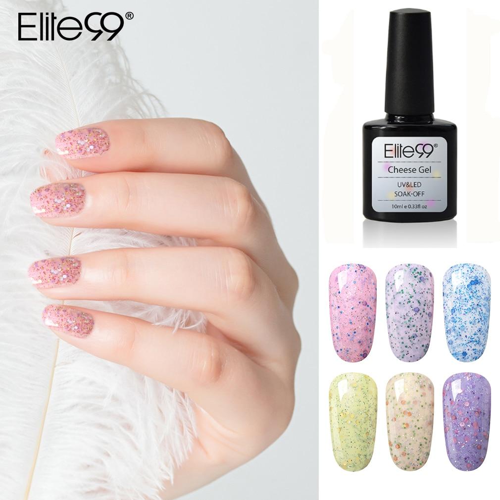 Elite99 queso arena Color Gel esmalte de uñas arte Gel barniz Semi permanente esmalte de uñas UV Gel para uñas laca de 10ml