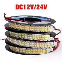 5M 12V 24V LED Streifen SMD 2835 480 Leds/m diode band Flexibel PCB Led Licht streifen IP67 Rohr Wasserdichte Led Streifen Striscia Led