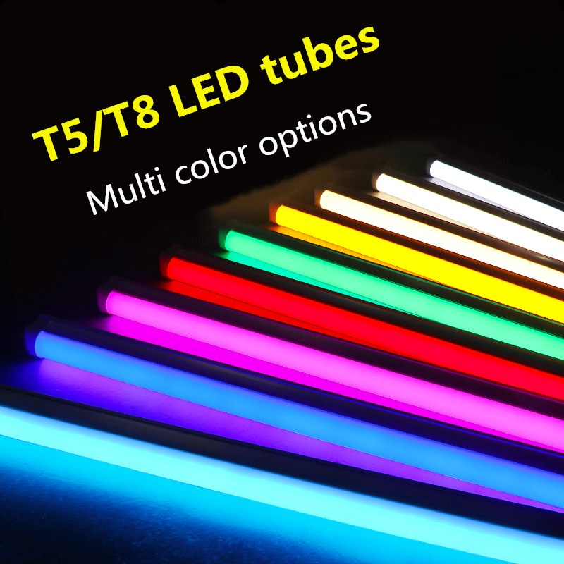 T8/T5 Integrated LED Tube Light AC85V-265V 2835 SMD 300mm 600mm Fluorescent LED Tube Lampara Ampoule